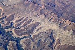 沙漠鸟瞰图 免版税库存图片
