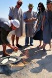 沙漠活动在Judean沙漠以色列 免版税库存照片