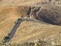 沙漠费埃特文图拉岛路 免版税库存图片