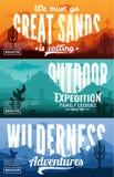 沙漠水平的横幅集合 免版税库存照片