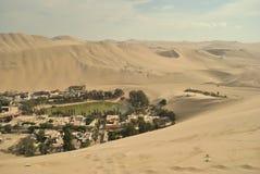 沙漠绿洲掌上型计算机红色高三个结构树 免版税库存图片