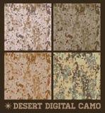 沙漠-无缝的传染媒介数字式伪装 免版税库存图片