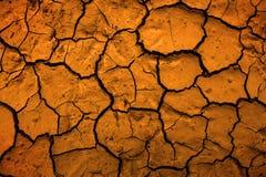 沙漠代表气候变化的干泥炎热的土地球 库存图片