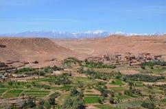 沙漠&雪山山脉 库存图片