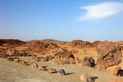 沙漠el teide 库存图片