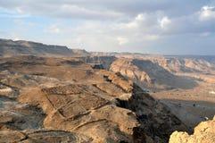 沙漠masada negev视图 图库摄影