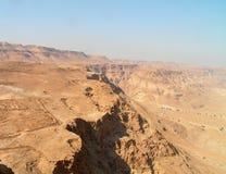 沙漠masada negev视图 免版税库存图片