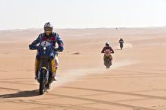 沙漠moto车手 免版税图库摄影