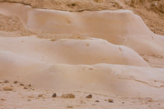 沙漠negev沙子塑造平稳的石头 库存照片