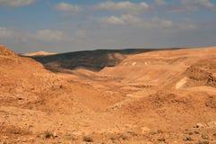 沙漠negev视图 库存图片