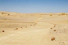 沙漠Road.Fuerteventura 库存图片
