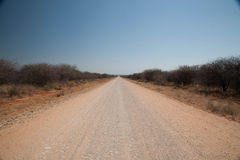 沙漠Road.Fuerteventura 图库摄影