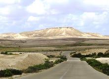 沙漠Road.Fuerteventura 免版税库存照片