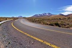 沙漠Road.Fuerteventura 免版税图库摄影