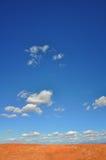 沙漠skyscape 免版税库存图片