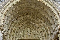 沙特尔大教堂在厄尔省和卢瓦河 免版税库存图片