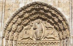 沙特尔大教堂的细节  免版税库存图片