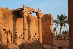沙特阿拉伯半岛diriyah老的废墟 库存图片