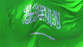 沙特阿拉伯沙文主义情绪在风连续的无缝的圈背景中 库存例证