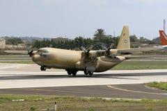 沙特阿拉伯空军队赫拉克勒斯离开 图库摄影