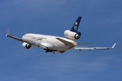 沙特货物MD-11离开 库存图片
