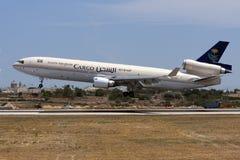沙特货物MD-11着陆 免版税库存图片