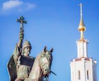 沙皇伊凡四世纪念碑在奥廖尔州 库存照片