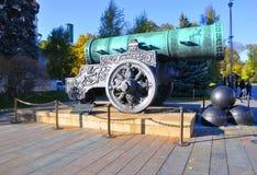 沙皇大炮在克里姆林宫 莫斯科俄国 免版税库存照片