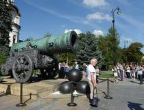 沙皇大炮在克里姆林宫 库存图片