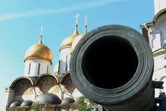 沙皇大炮-中世纪火炮,俄国火炮的纪念碑 库存图片