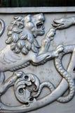 沙皇大炮Cannon在克里姆林宫,狮子头国王 图库摄影