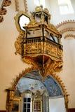 沙皇` s座位-调解的教会内部在Fili的 库存照片