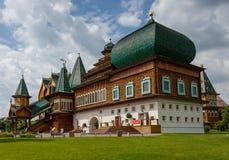 沙皇Aleksey米哈伊洛维奇木宫殿  库存照片