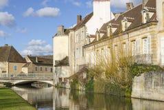 沙罗勒,伯根地,法国,赛隆和卢瓦尔河 免版税库存图片