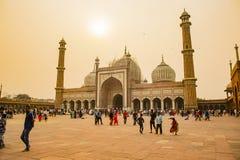 沙赫贾玛清真寺,德里,印度 库存照片