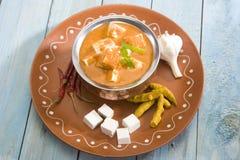 沙赫Paneer或乳酪烹调用咖喱 免版税库存图片