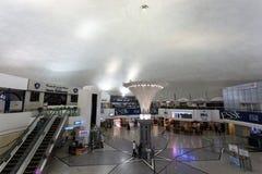 沙迦国际机场的内部 图库摄影