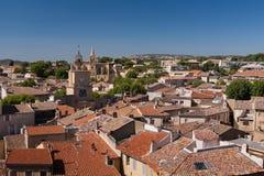 沙龙de普罗旺斯,法国城镇  免版税库存图片