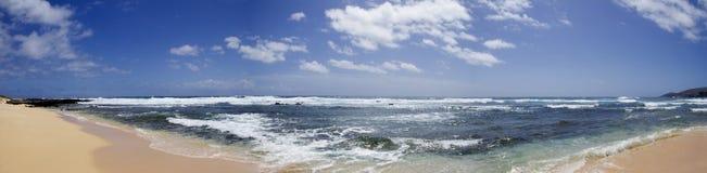 沙滩全景 图库摄影