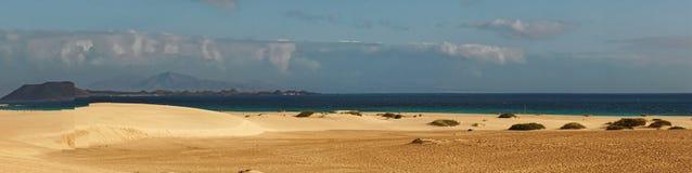 沙滩全景 库存照片