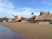 沙滩在圣胡安del苏尔在尼加拉瓜 免版税库存照片