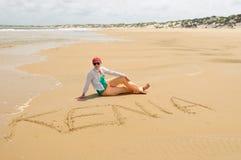沙滩在肯尼亚 免版税库存照片