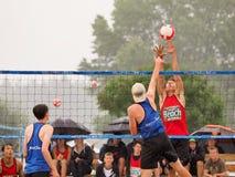 沙滩排球国民 免版税库存照片