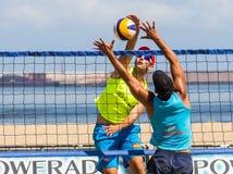 沙滩排球比赛 免版税库存图片
