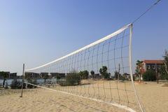 沙滩排球法院 免版税库存图片