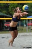 沙滩排球竞争 免版税库存图片