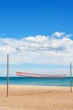沙滩排球网 库存图片