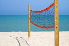 沙滩排球网 免版税库存照片