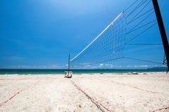沙滩排球网 库存照片