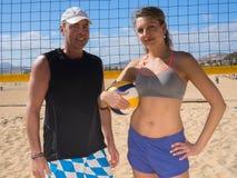 沙滩排球队 免版税库存图片